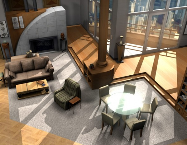 Frasier urban apartment visualization Home architecture tv show