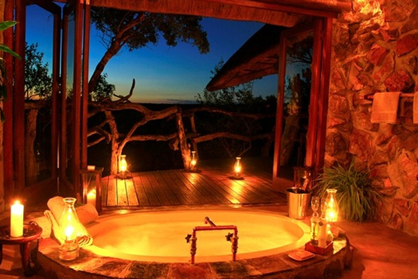 Outdoor romantic bathroom ideas Romantic bathroom design ideas
