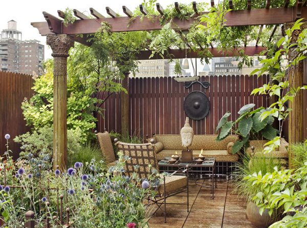 Penthouse terrace gardens for Home terrace garden design