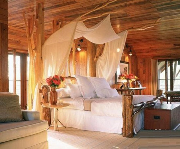 Romantic Bedroom With Nature