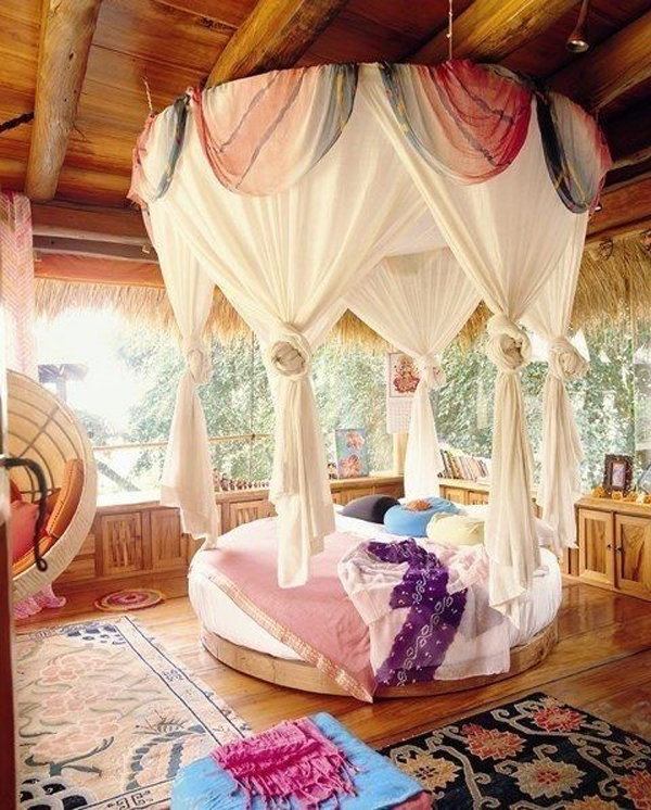 Romantic Tropical Bedroom Design