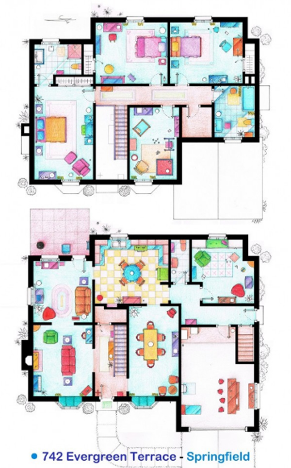 The Simpson House Floor Plans