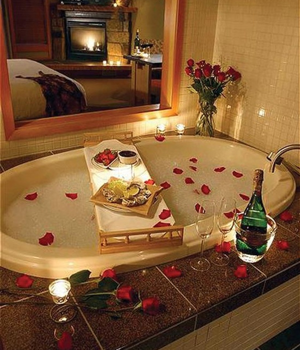 Wedding bath for Romantic bathroom designs for couples