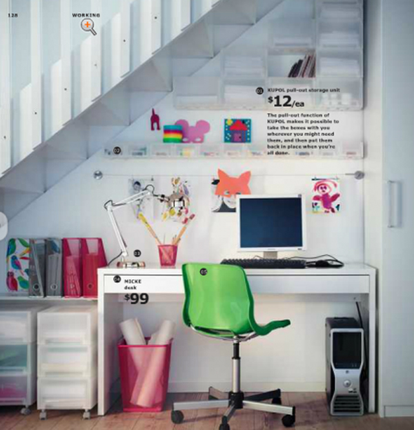 Ikea Office Design ~ Ikea home office with craft ideas design and