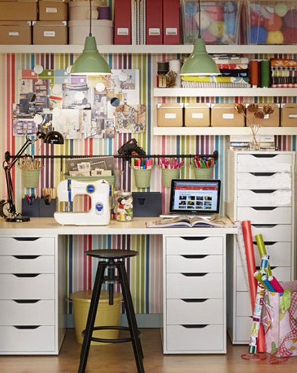 15 Ikea Home Office with Craft Ideas | Home Design And Interior