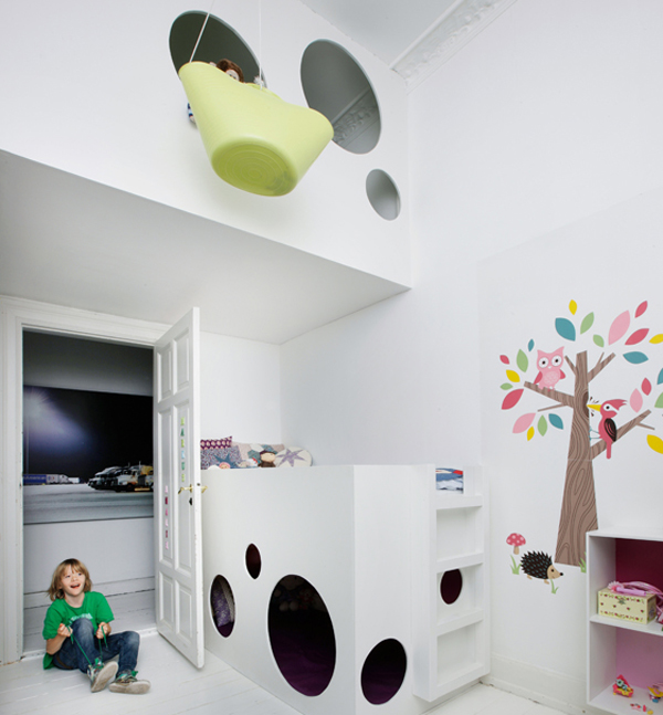 kids loft bedrooms Kids Loft Beds with Creative Playroom