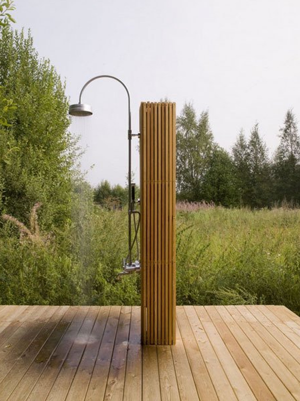 Wood Shower Including Floor Will Absorb Water And Are Environmentally  Friendly, You Can Put It In The Back Garden.