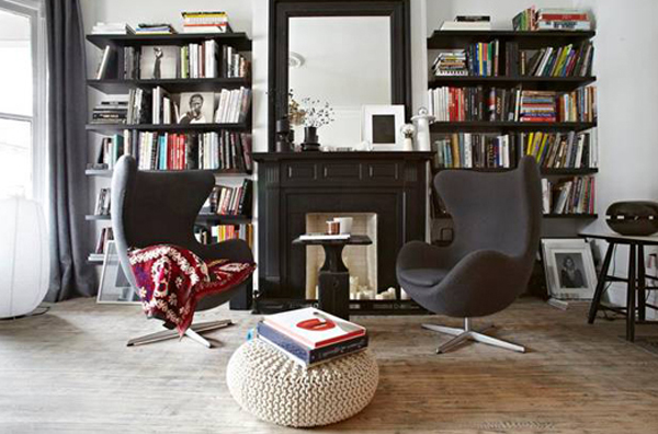 Parisian house with modern touch in toronto home design for Mini library at home