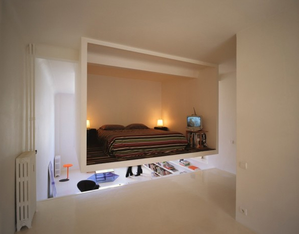 Almost like a secret room bedrooms ideas shaped corner room and kept  suspended by ECDM Architects. Secret Bedrooms