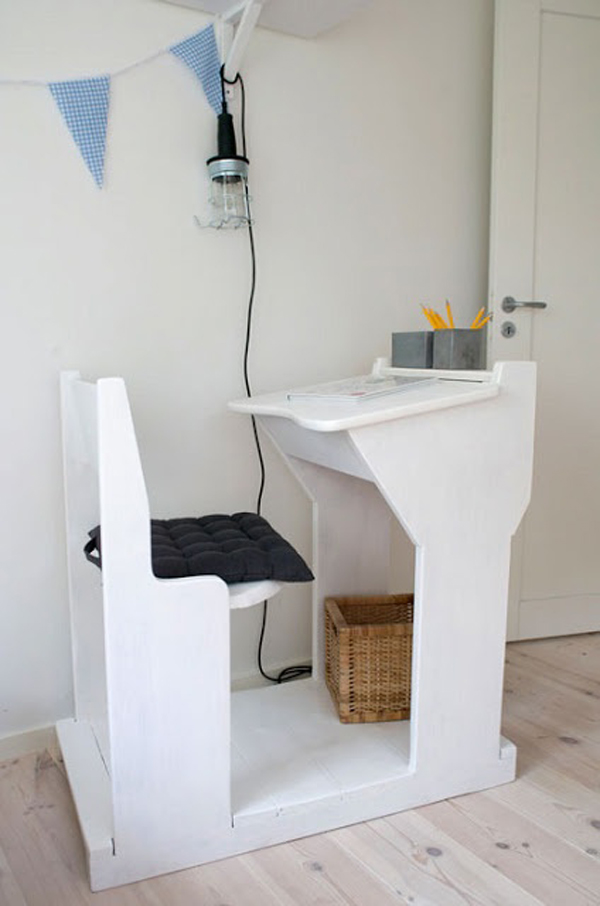 Vintage desks for home office Rustic Vintagewhitekiddesk Desk Ideas Vintagewhitekiddesk Home Design And Interior