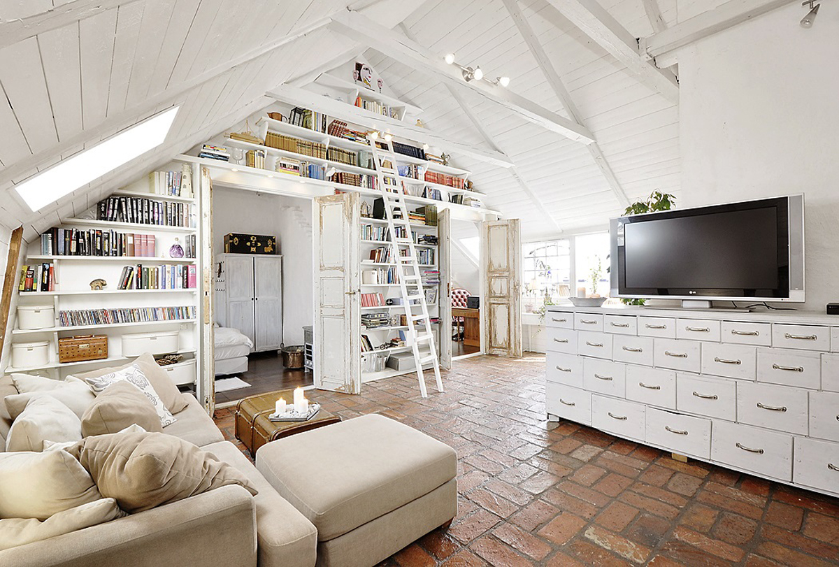 Attic Apartments With Shabby Chic Styles