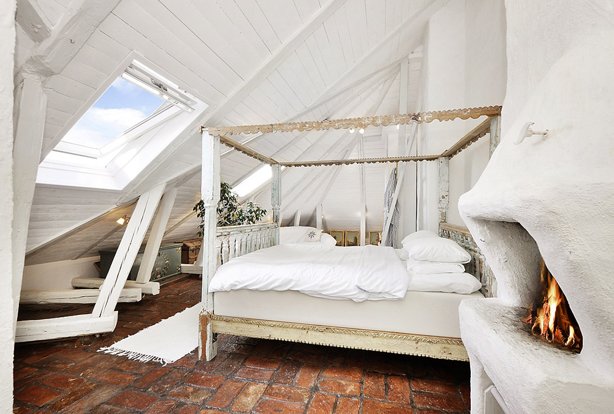 Attic Apartments With Shabby Chic Bedrooms