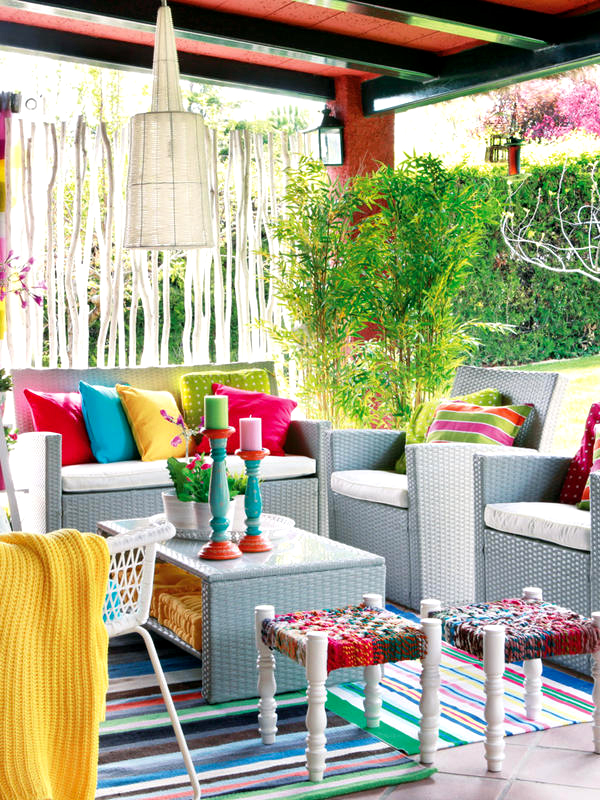 Patio Gardens With Colorful Space Homemydesign