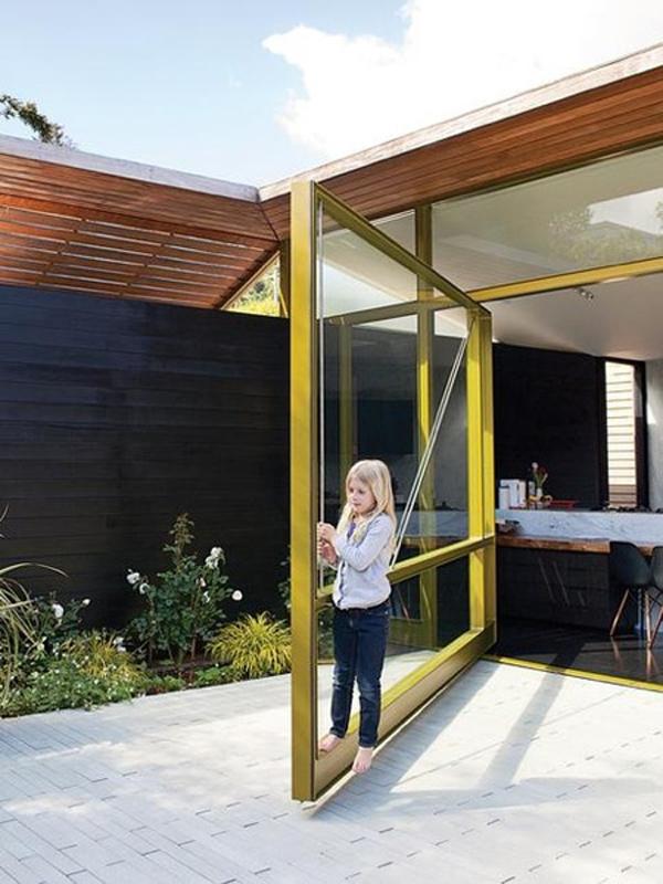 Yellow Glass Door Designs