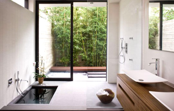 Creative bathroom is connected with nature. If you like outdoor bathroom designs, but would like to have a little more privacy then you should see ...