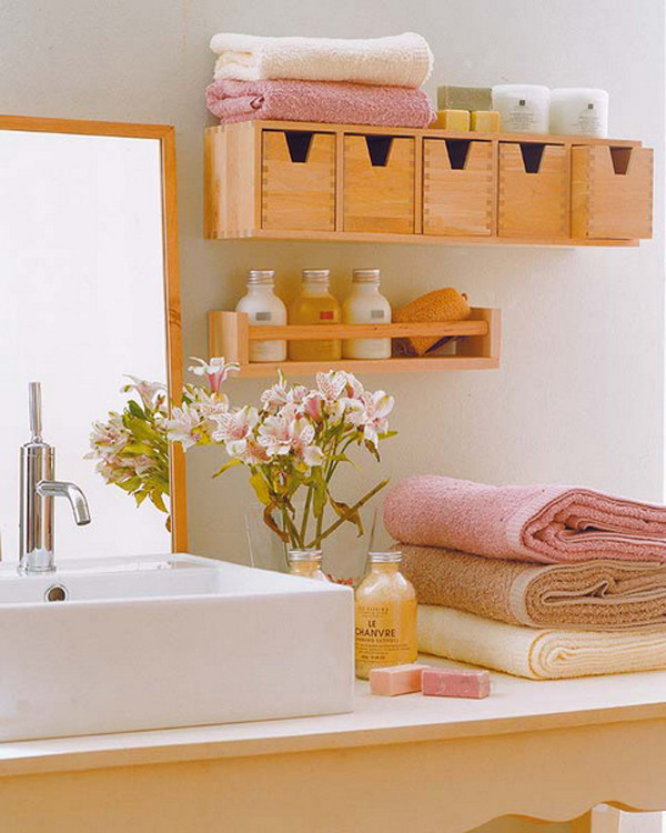 gallery of 25 simple and small bathroom storage ideas