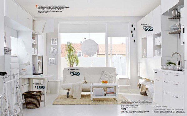 Ikea white living room 2014 for Small living room designs 2013