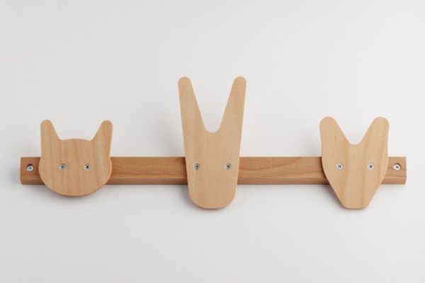 Kids wall hooks by all lovely stuff for Wall hooks for kids room