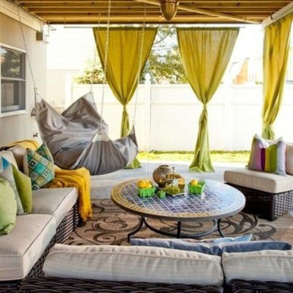 20 Chic Interior Designs With Yellow Curtains: 20 Moroccan Style House With Outdoor Spaces