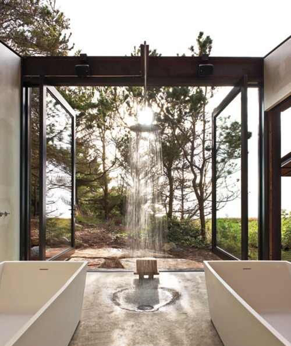 Outdoor bathroom ideas for Bathroom designs outside