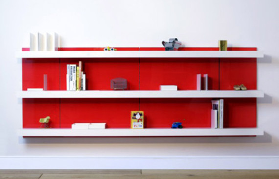 red-shelving-system