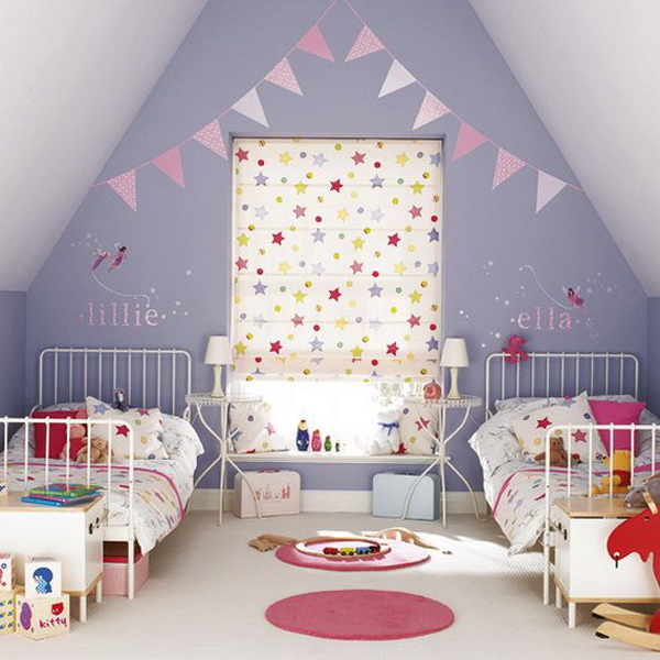 Attic christmas bedroom for kids for Children bedroom ideas