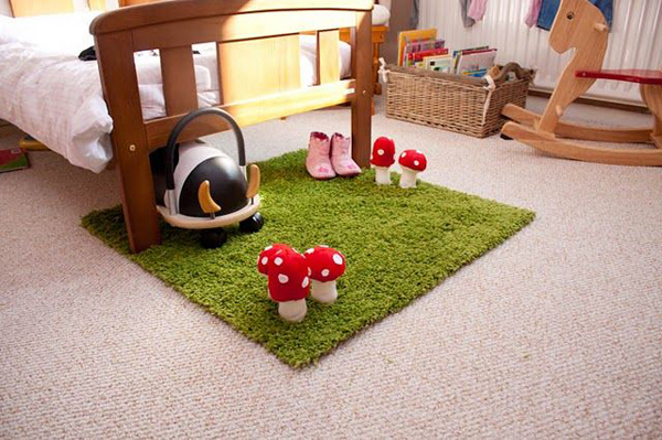 Baby playroom ideas for Ikea grass rug