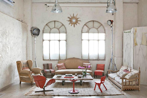 bohemian loft apartments in madrid home design and interior 25 fantastically retro and vintage home decorations