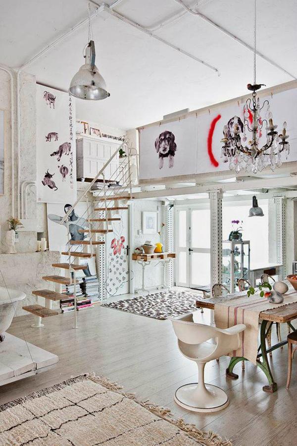Bohemian Loft Apartments In Madrid   HomeMydesign