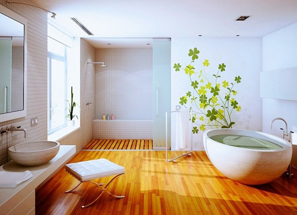 Clean wood floor bathroom ideas for Clean bathroom designs