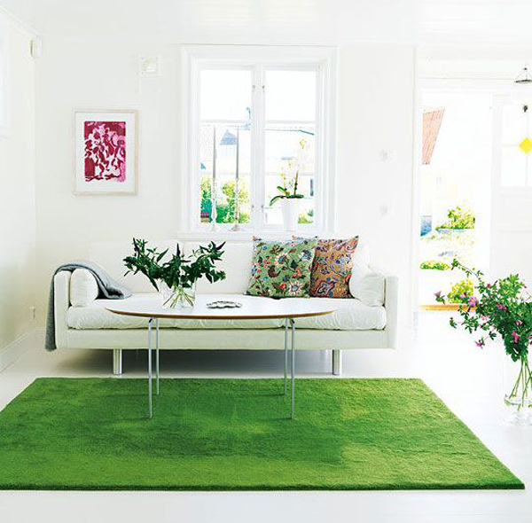 25 Awesome Grass Rug Ideas