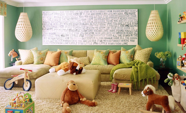 35 adorable kids playroom ideas home design and interior for Kid friendly family room design