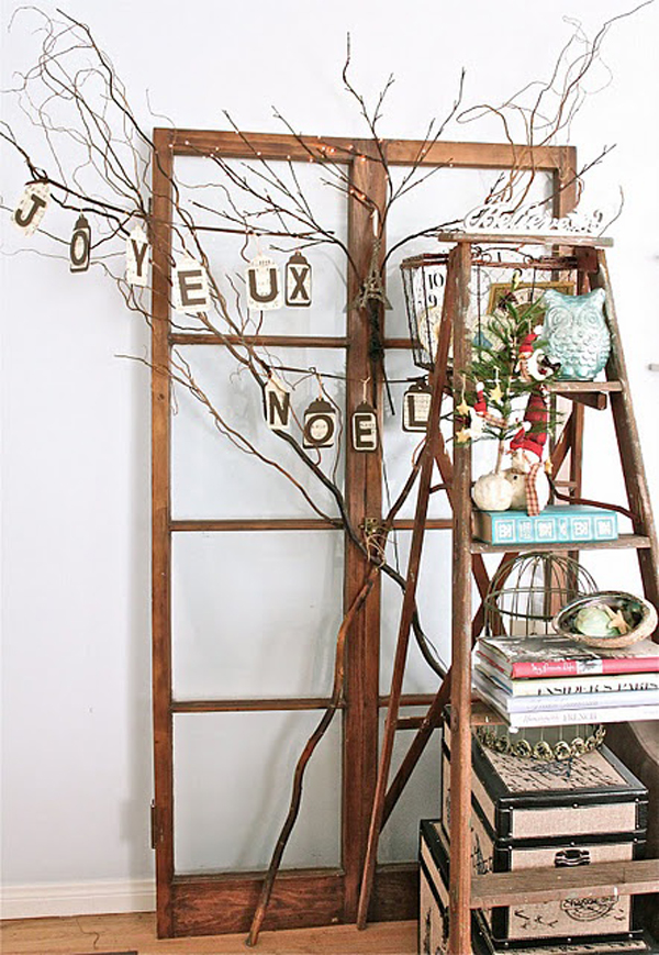 27 vintage ladders for interior ideas home design and - Ladders for decorating stairs ...