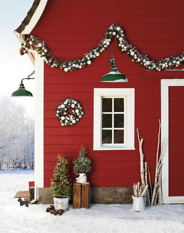 Outdoor scandinavian christmas designs for Christmas home design
