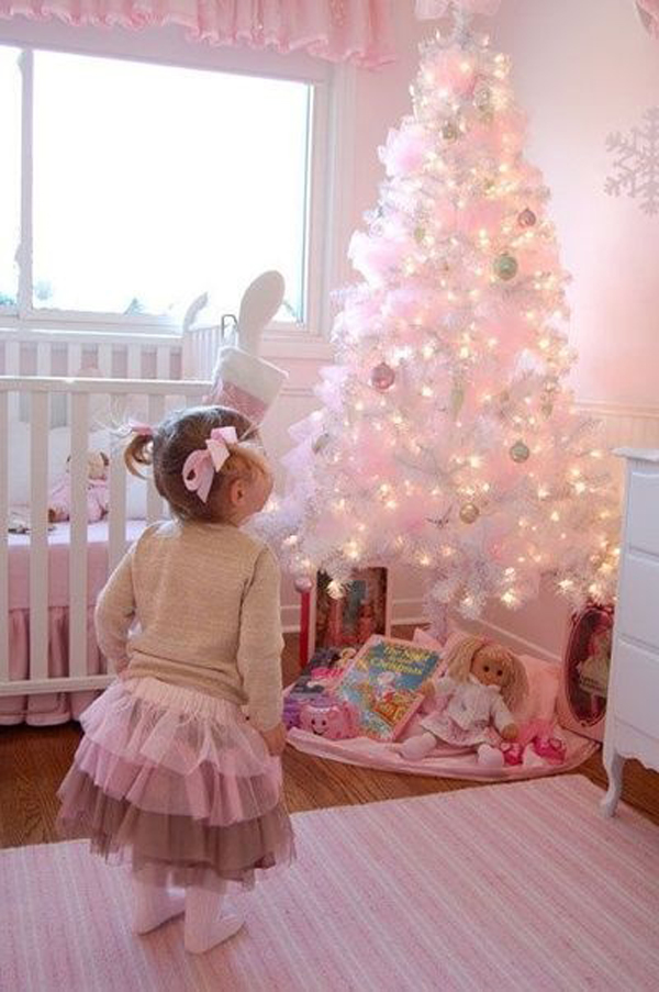 Pink Christmas Tree And Bedrooms Homemydesign