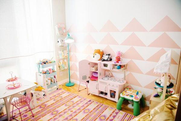 Pink kids playroom ideas for Home playroom ideas