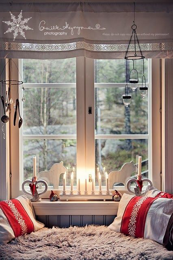 Christmas Decorations On Window : Scandinavian christmas windows ornament