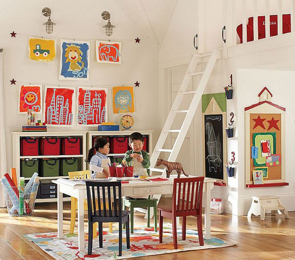 Small Kids Playroom Design Ideas on Home Office Furniture Design Ideas