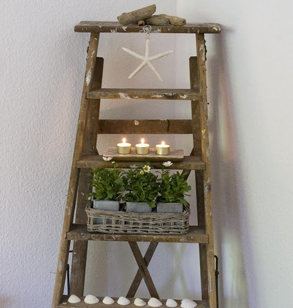 Vintage Ladder Decor Ideas
