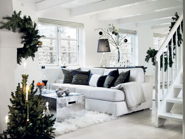 you can use bright colors and add some christmas ornaments but scandinavian christmas decorations stick to simplicity and togetherness