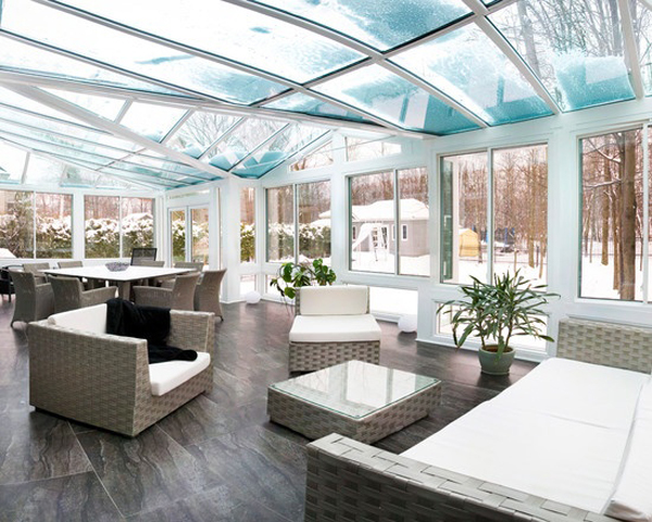 white sunroom decor ideas - Sunroom Design Ideas Pictures