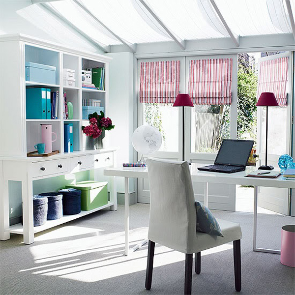 White Sunroom Office Furniture Home Design And Interior