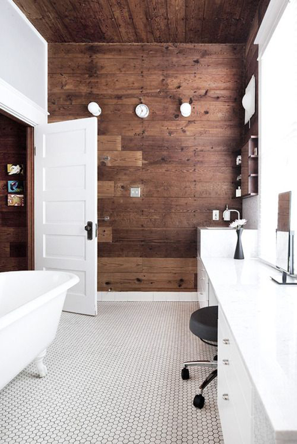 10 Wood Bathroom Floor Ideas | Home Design And Interior