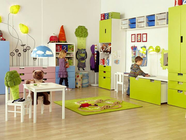 Yellow kids playroom ideas for Design my home