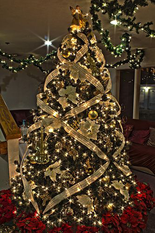 Beautiful christmas tree ideas for Xmas tree decoration ideas