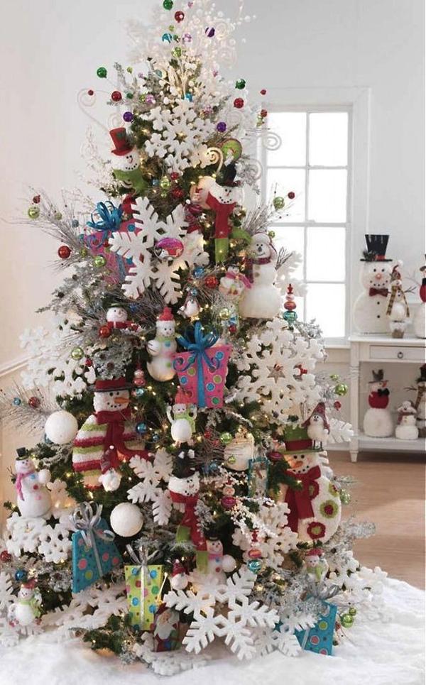 colorful christmas tree ideas - Colorful Christmas Tree