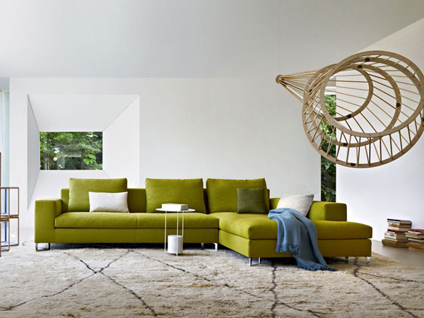 Green Sofa In Living Room