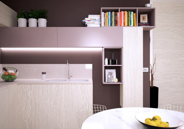 small apartments with kitchen layout