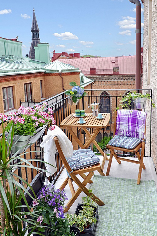 Balcony garden ideas for Tiny balcony ideas