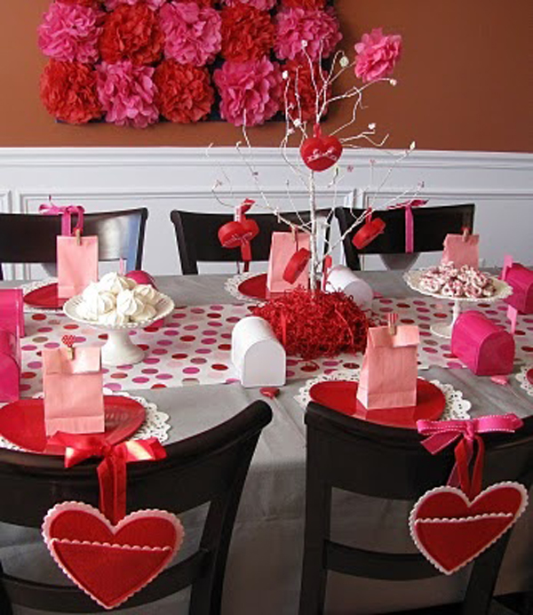 Black and red valentine day table settings for Table design for valentines day
